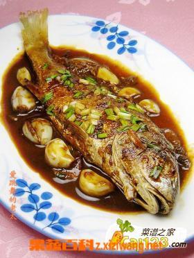 果蔬百科蒜子烧黄鱼的